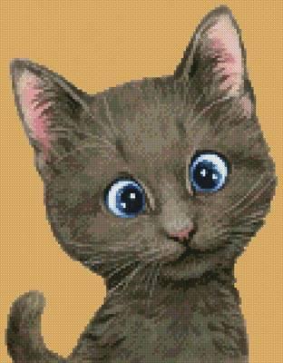 cross stitch pattern Mini Cat 68