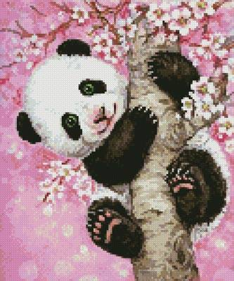 cross stitch pattern Mini Cherry Blossom Panda