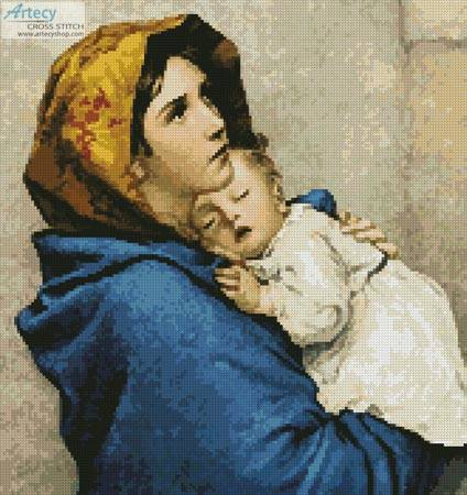 cross stitch pattern Madonna of the Streets (Crop)