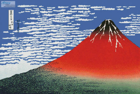 cross stitch pattern Mount Fuji in Clear Weather (Large)