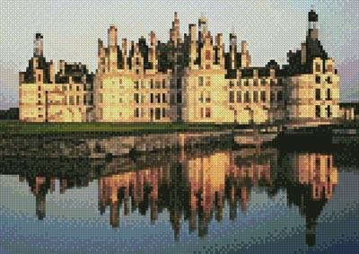 cross stitch pattern Mini Chateau de Chambord