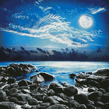 cross stitch pattern Moonlight Bay Photo