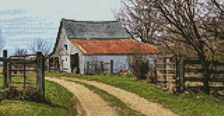 cross stitch pattern Mini Rustic Barn