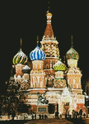 cross stitch pattern Mini Saint Basil's Cathedral