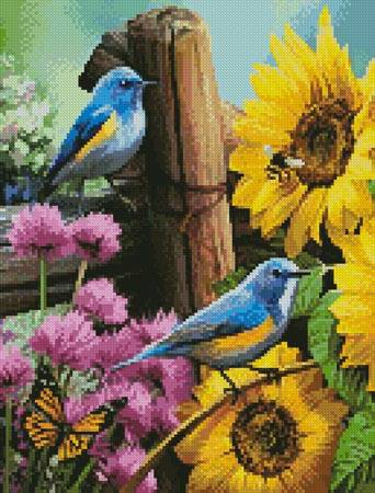 cross stitch pattern Mini Sunflower Garden