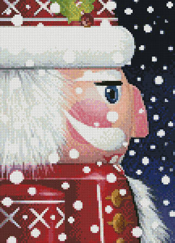 cross stitch pattern Mini Santa Nutcracker