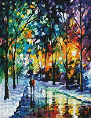 cross stitch pattern Mini Night Colors