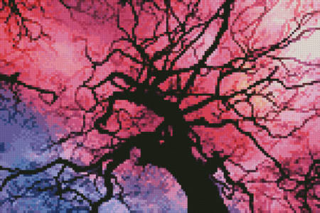 cross stitch pattern Mini Twilight Tree