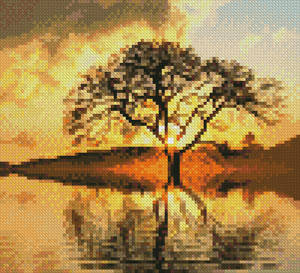 cross stitch pattern Mini Sunny Tree
