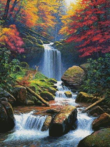 cross stitch pattern Mystic Falls 2