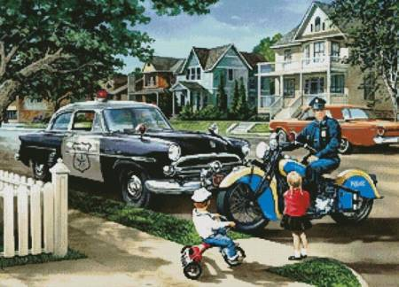 cross stitch pattern Neighbourhood Patrol