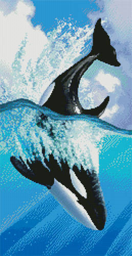 cross stitch pattern Orca 2