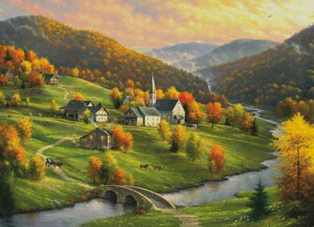 cross stitch pattern Peace in the Valley (Large)