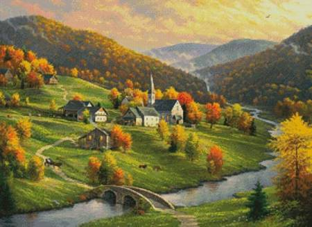 cross stitch pattern Peace in the Valley