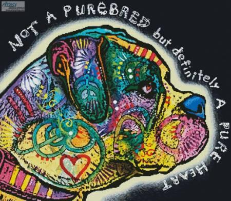 cross stitch pattern Pure Heart