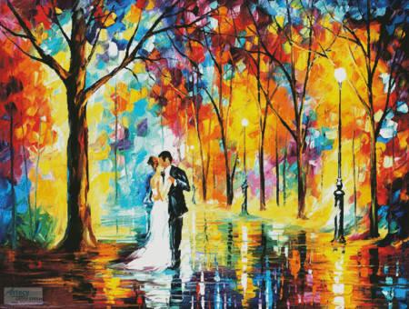 cross stitch pattern Rainy Wedding (Large)