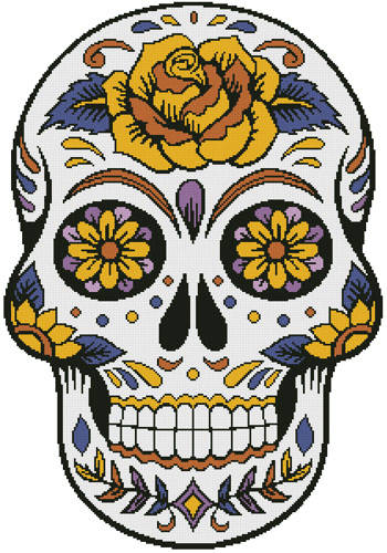 cross stitch pattern Sugar Skull