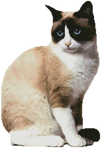 cross stitch pattern Snowshoe Cat 2