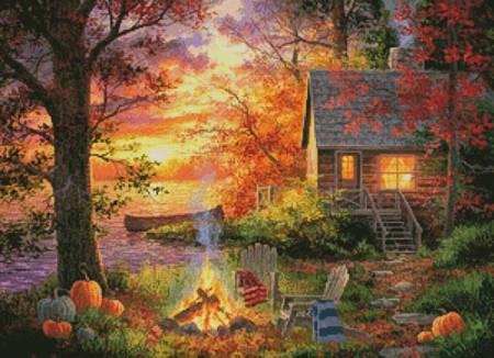 cross stitch pattern Sunset Serenity