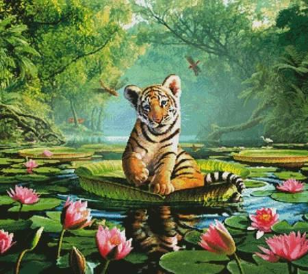 cross stitch pattern Tiger Lily
