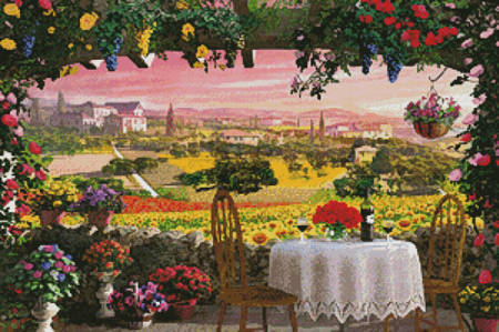cross stitch pattern Tuscany Hills