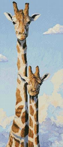 cross stitch pattern Two Heads in the Clouds
