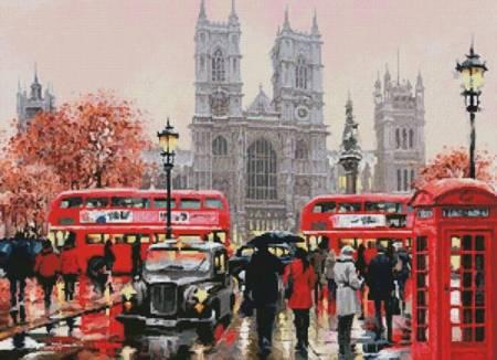 cross stitch pattern Westminster Abbey