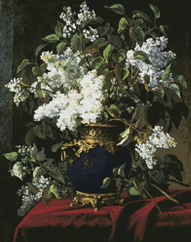 cross stitch pattern White Lilacs
