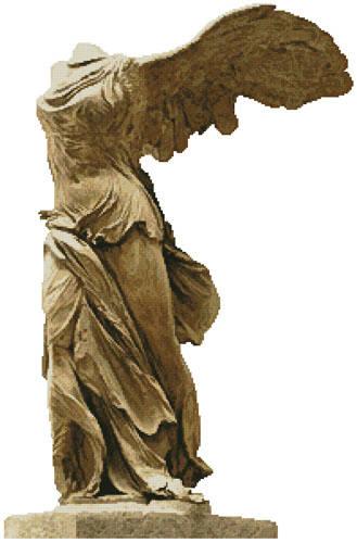 cross stitch pattern Winged Victory of Samothrace