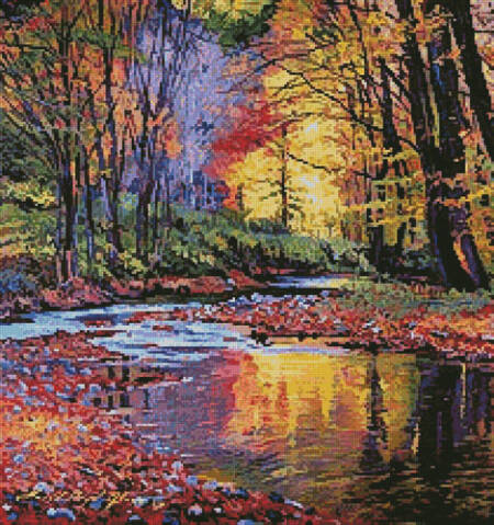 cross stitch pattern Autumn Prelude (Crop)
