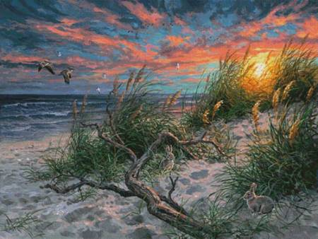 cross stitch pattern Beach Life (Large)