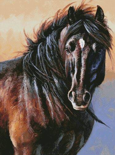 cross stitch pattern Black Stallion