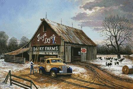cross stitch pattern The Barn Painters