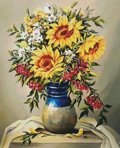 cross stitch pattern Bouquet of Summer