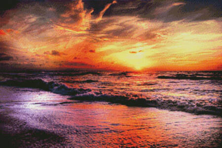 cross stitch pattern Colourful Sunset 2