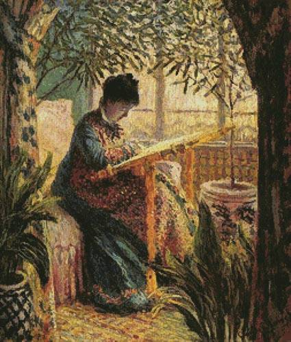 cross stitch pattern Camille Monet Embroidering