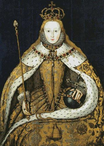 cross stitch pattern Coronation of Queen Elizabeth 1