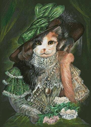 cross stitch pattern Cat Opera