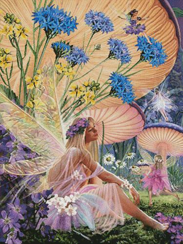 cross stitch pattern Fairy Ring Daydreaming
