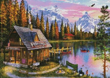cross stitch pattern The Fishing Hut (Large)