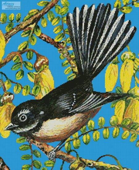 cross stitch pattern Fantail Frolics (Crop)