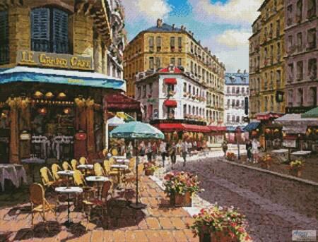 cross stitch pattern Le Grand Cafe