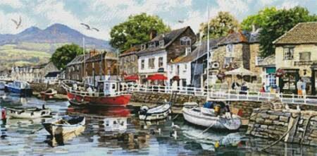 cross stitch pattern Harbour Painting