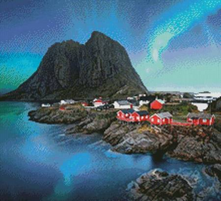 cross stitch pattern Lofoten Norway (Crop)