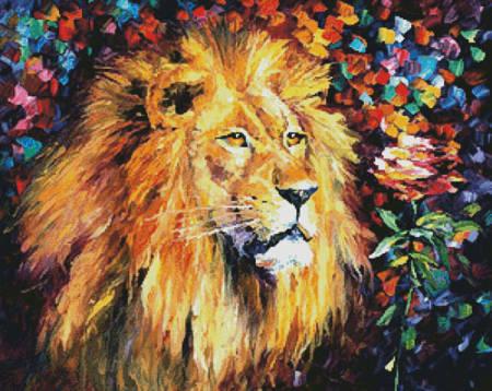 cross stitch pattern Lion of Zion
