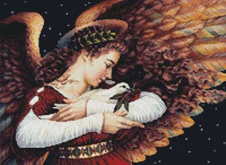 cross stitch pattern Mini The Angel and the Dove