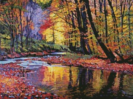 cross stitch pattern Mini Autumn Prelude