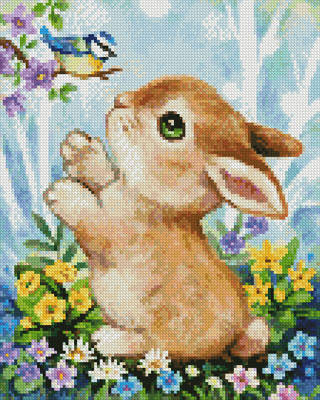 cross stitch pattern Mini Bunny and Bird