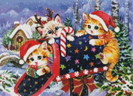 cross stitch pattern Mini Christmas Mailbox