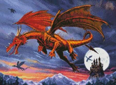 cross stitch pattern Mini Dragon Flight